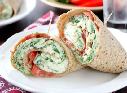 Spinach & Egg Wrap