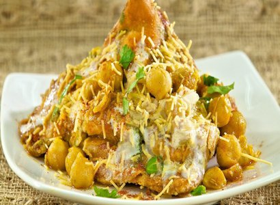 Vegetable Samosa Chat