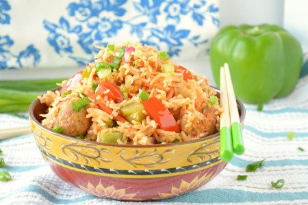 VEG MANCHURIAN FRIED RICE