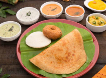 IDLY(1PC),VADA(1PC),PLAIN DOSA(1PC) & TEA