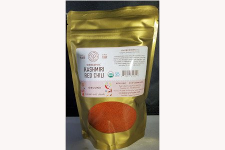 Pure India Food Organic  Kashmiri Chilli Pepper Ground (8.0 oZ)