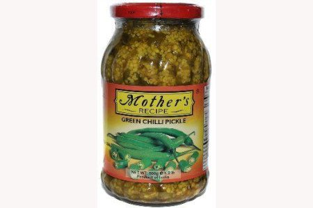 Mothers Recipe Green Chilli Pickle 500g