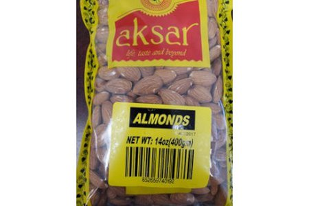 Aksar Almonds 400g