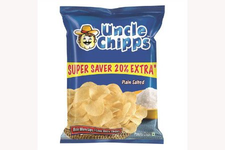Uncle Chips Plain Salted 60g