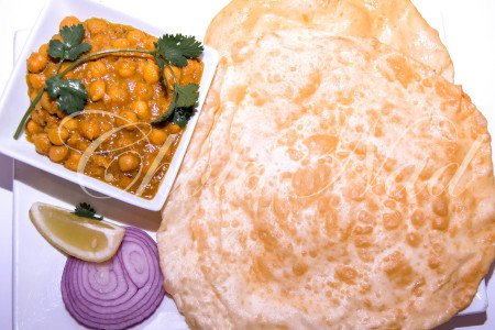 Chole Bhature  (Vegetarian)