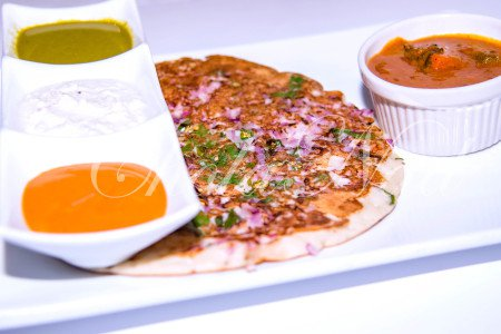 Pepper onion Cilantro Dosa or Uthappam  (Gluten Free , Vegetarian)