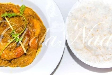 Shrimp CHETTINAD WITH RICE  (Spicy, Gluten Free)