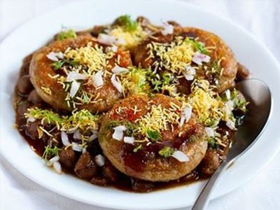 Aloo Tikki with Chole