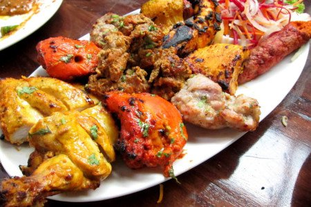 Assorted Meat Platter (Fish Pokada /Chicken Mughlai /Galouti Kebab)