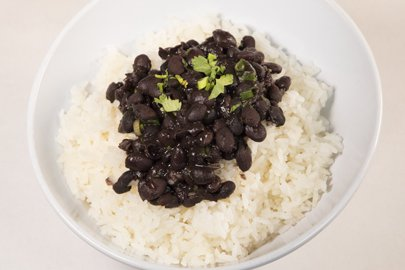 Rice Topped With Beans