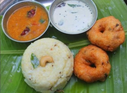 Ven Pongal with 1 Vadai