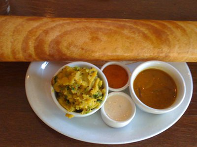 Paper Dosa with Masala